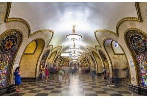 Novoslobodskaya, a station of Moscow subway