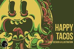 Happy Tacos Illustration