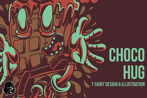 Choco Hug Illustration