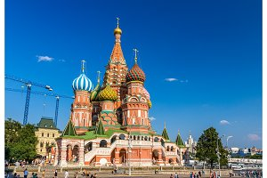 Saint Basil's Cathedral in Red Square - Moscow