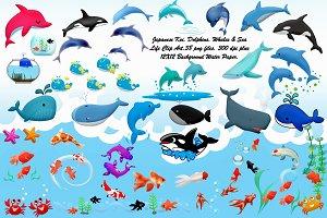 Koi Fish, Dolphins,Whales & Sea Life