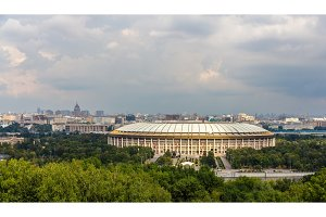 View of Luzhniki sport complex in Moscow