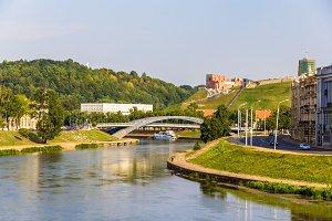 Vilnius over Neris River in Lithuania