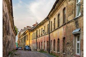Sventosios Dvasios street in Vilnius, Lithuania