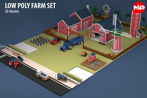 Low Poly Farm Set