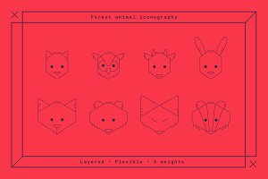 8 Forest Animal - Line Icons
