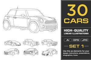 Vector Car illustrations (1st SET)