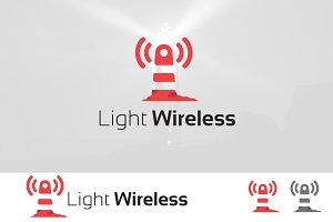 Wireless Signal Lighthouse Logo
