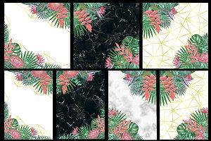 7 Tropical Card Set