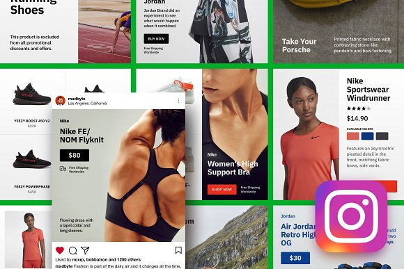 Gross Instagram Ecommerce Templates