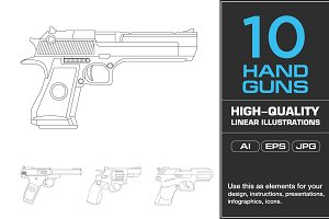 10 Handgun Illustrations