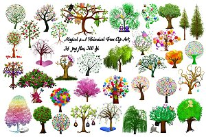 Magical & Whimsical Trees ClipArt