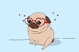 Pug love.
