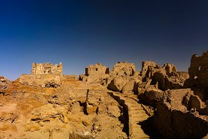 Ruins of the Amun Oracle temple, Siwa oasis, Egypt