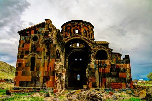 Ruined Cathedral of Talin, Aragatsotn, Armenia