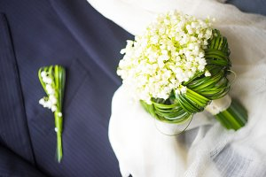 Bridal bouquet flower concept
