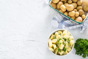Potato salad and fresh herbs III