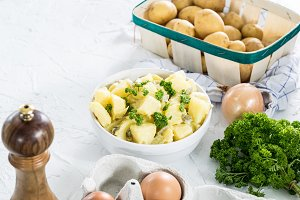 Potato salad and fresh herbs II