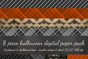 8 Piece Halloween Digital Scrapbook