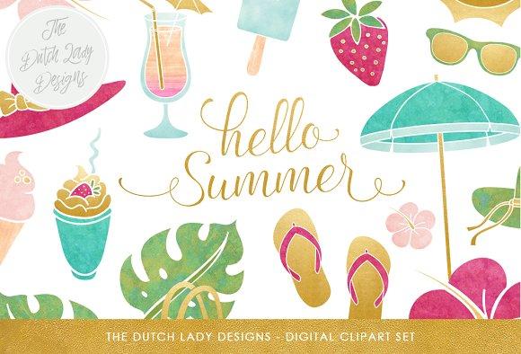Summer Beach Clipart Set