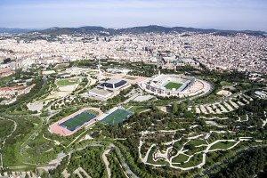 Barcelona cityscape - aerial view