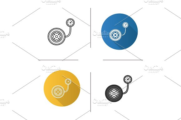 Tire Pressure Gauge Icon