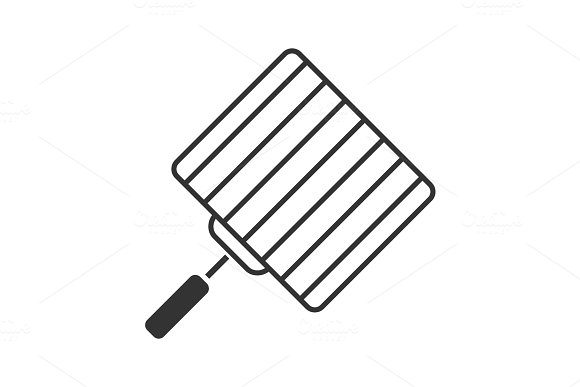 Hand Grill Glyph Icon