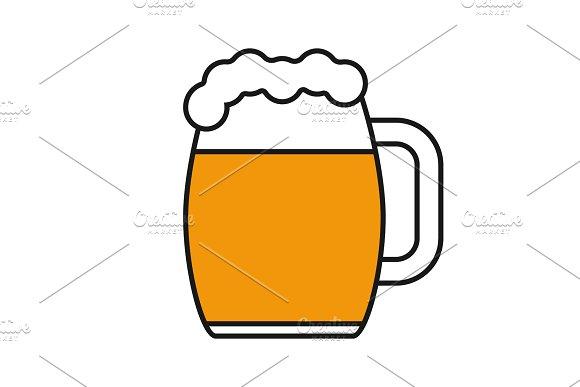 Beer Mug Color Icon