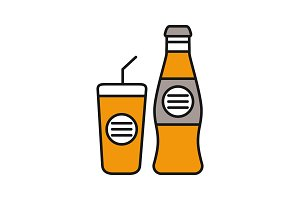 Cold drinks color icon