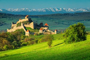Rupea fortress in Romania