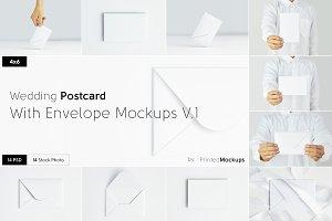 4x6 Postcard Envelope Mockups V.1