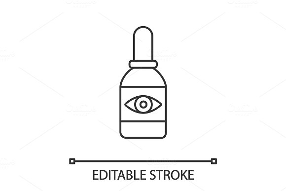 Eye Drops Linear Icon