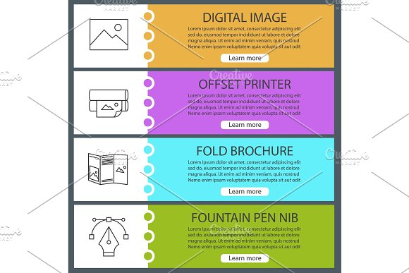 Printing Web Banner Templates Set