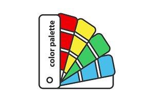 Color palette guide icon
