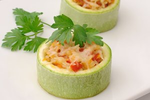 Zucchini stuffed