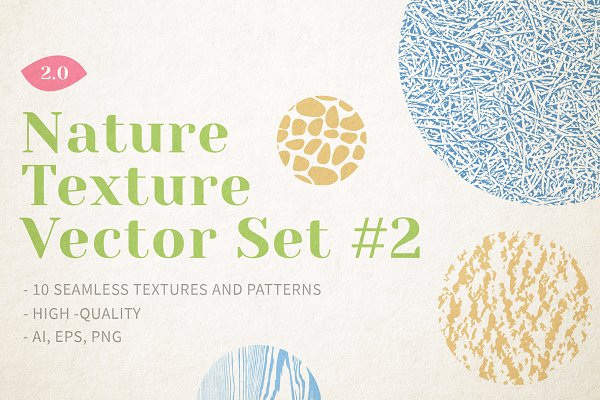 Nature Texture Vector Set ~ Graphic Patterns ~ Creative Market