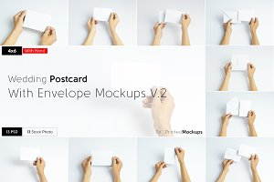 4x6 Postcard Envelope Mockups V.2