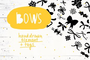 Bows, Ribbons and Tags Set