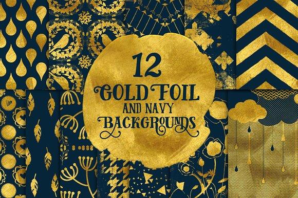 navy gold digital paper graphic patterns creative market
