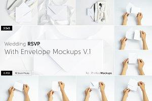 RSVP With Envelope Mockups V.1