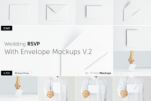 RSVP With Envelope Mockups V.2
