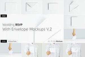 RSVP With Envelope Mockups V.2