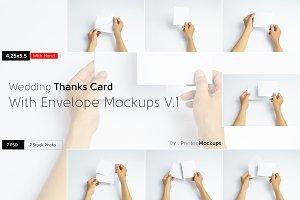 Thanks Card Envelope Mockups V.1