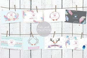 8 cute lovely design boho cards7#
