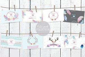 8 cute lovely design boho cards7#