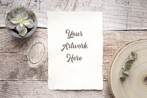 Paper Invitation Mockup -rustic
