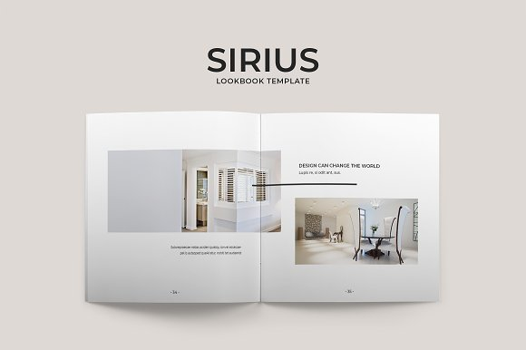 Sirius Lookbook Template