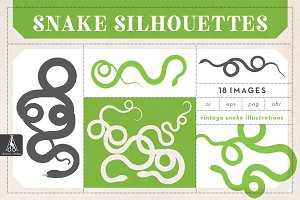 Snake Silhouette Illustrations