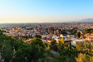 Tyrrenian sea bay and Alcamo town