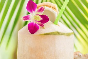 Fresh tropical coconut